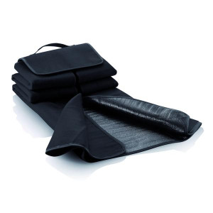 ACAMAR pikniková deka s uchom, čierna