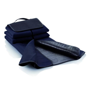 ACAMAR pikniková deka s uchom, námornícka modrá