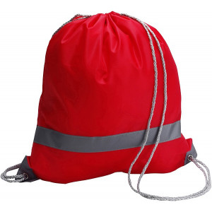 BAGGY vak s reflexným pásikom a šnúrkou, červená