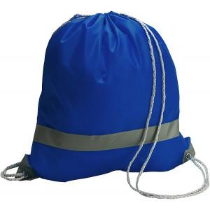 BAGGY vak s reflexným pásikom a šnúrkou, modrá