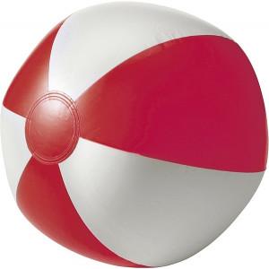 BALON plážová nafukovacia lopta, biela/červená