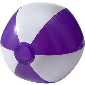 BALON plážová nafukovacia lopta, biela/fialová