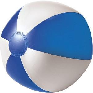 BALON plážová nafukovacia lopta, biela/modrá