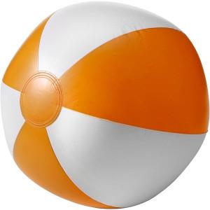 BALON plážová nafukovacia lopta, biela/oranžová