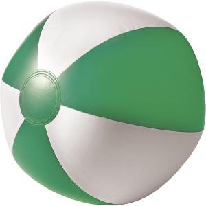 BALON plážová nafukovacia lopta, biela/zelená