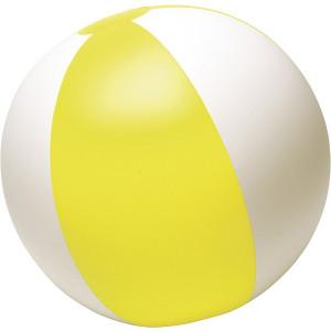 BALON plážová nafukovacia lopta, biela/žltá