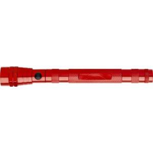 BENJI hliník.teleskopická 3 LED baterka, červená