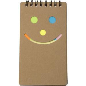 BROK zápisník so značkovačmi a note-itom