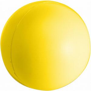 BUBIK antistresová loptička, PU penový materiál, žltá