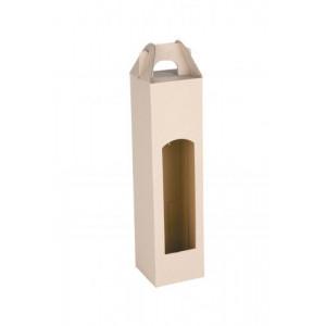 CADDY kartónová krabica na 1 fľašu, biela