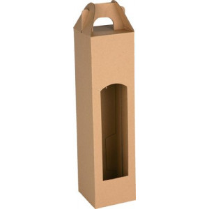 CADDY kartónová krabica na 1 fľašu, hnedá