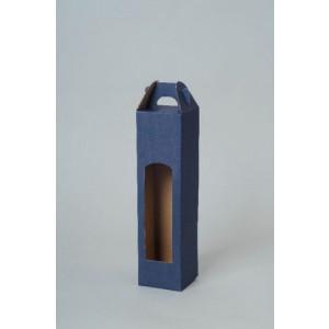 CADDY kartónová krabica na 1 fľašu, modrá