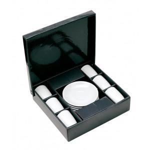 CAFETO sada na espresso, 6 ks, darčeková krabička