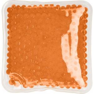 DODO plastový štvorcový vankúšik, zahreje/ochladí, oranžová