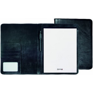EBONY zložka na dokumenty A4 s blokom, čierna