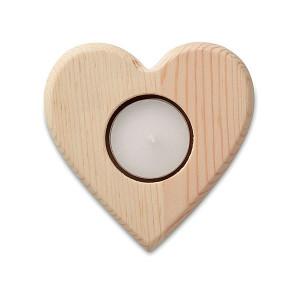 ENAMORADA drevený svietnik v tvare srdca