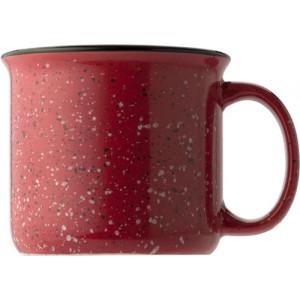 ESPINO Keram. hrnček, objem 400 ml vo vintage štýle, červený