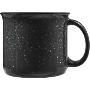 ESPINO Keram. hrnček, objem 400 ml vo vintage štýle, čierny