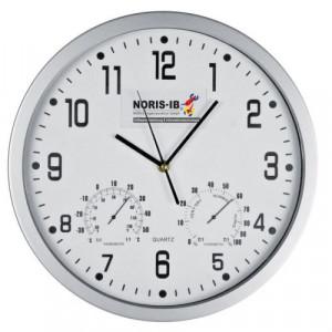 GASPRA plastové nástenné hodiny, teplomer, vlhkomer, biela
