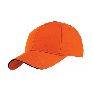 GILES šesťpanelová šiltovka, oranžová