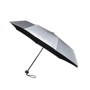 GRANADOS skladací dáždnik v puzdre, strieborná/čierna