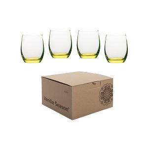 HATTA sada 4 pohárov Vanilla Season, žltá