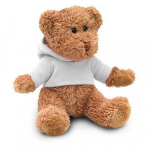 HONZIK medvedík v tričku s kapucňou, biela