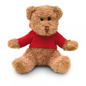 HONZIK medvedík v tričku s kapucňou, červená