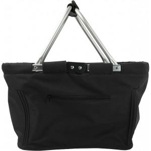 JANAH skladací nákupný košík, vrecko na zips, čierna