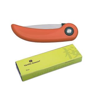 KISO Kuchynský keramický zatvárací nôž Vanilla Sea, oranžová