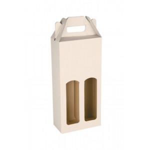 KLEROS kartónová krabica na 2 fľaše vína, biela