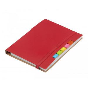 KORDON zápisník s guličkové perom (čierna n.), červená