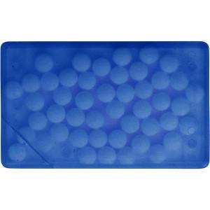KREDITKA cukríky v krabičke, tvar kreditnej karty, modrá