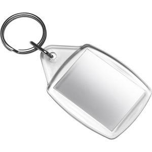 KÚZELNÍK plastový prívesokna kľúče, transp.