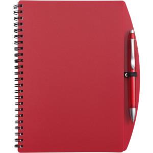 LIBERO A5 poznačkyblok A5, guličkové pero, červená
