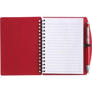 LIBERO A6 poznačkyblok A6, guličkové pero, červená