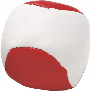 LOPTIČKA antistresová loptička, biela/červená