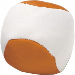 LOPTIČKA antistresová loptička, biela/oranžová