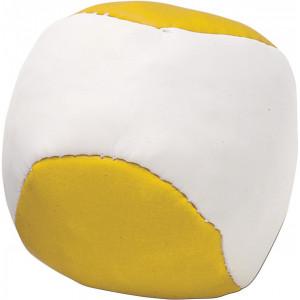 LOPTIČKA antistresová loptička, biela/žltá