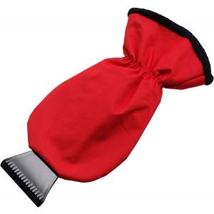 MANOPOLA plastová autoškrabka, rukavica, červená