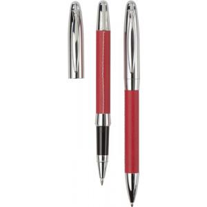 METOD kovové guličkové pero, roller (čierna n.), puzdro, červená