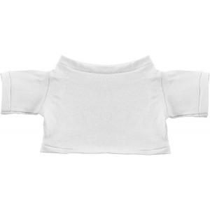 MINITRIČKO bavlnené tričko na plyšové zvieratko 20 cm, biela