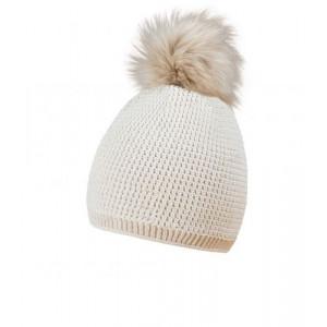 MORALES zimná čiapka s brmbolcom, prírodná