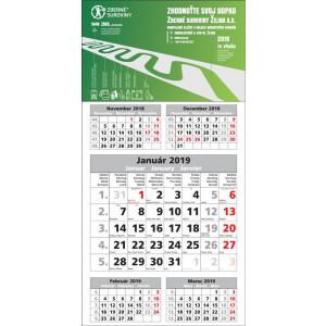 Nástenný kalendár PÄŤMESAČNÝ ŠTANDARD, 2019