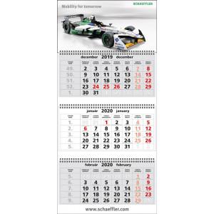 Nástenný kalendár TROJMESAČNÝ SUPER-MAXI, sivé kalendárium 2020
