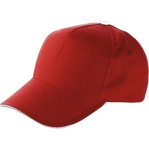 PROGRESA päťpanelová šiltovka, červená