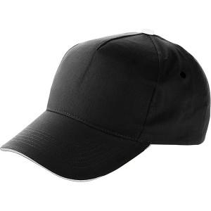 PROGRESA päťpanelová šiltovka, čierna