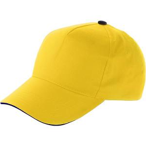 PROGRESA päťpanelová šiltovka, žltá