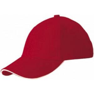 RIDER šesťpanelová šiltovka značkySLAZENGER, červená