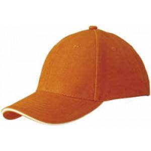 RIDER šesťpanelová šiltovka značkySLAZENGER, oranžová